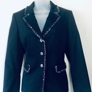 Tahari Women's Blazer Black Size 10